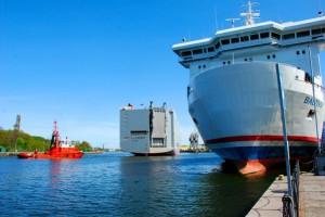 Ships in Port Gdansk Westerplatte
