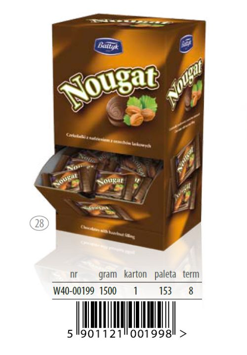 Nougat Chocolates with hazelnut filling